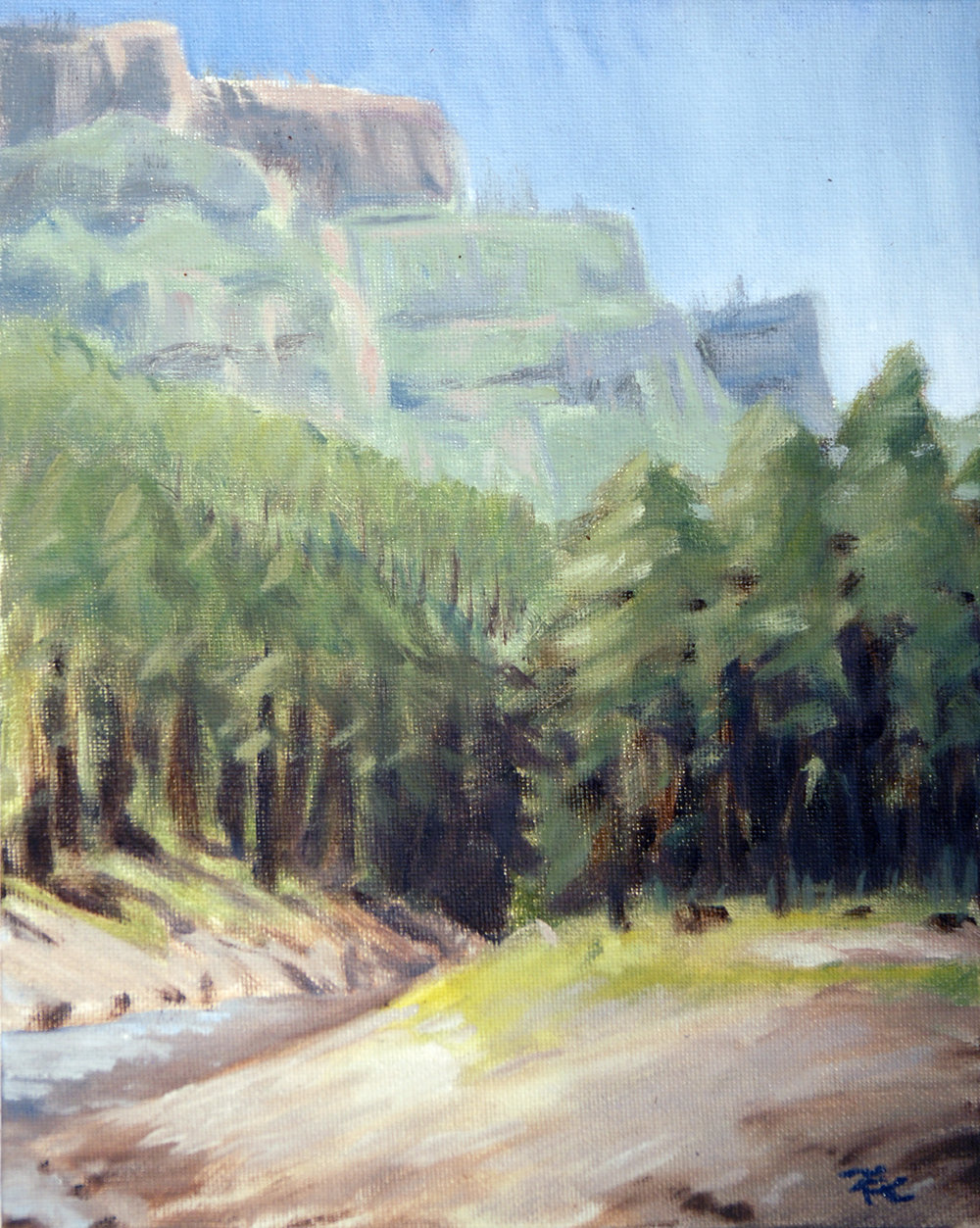 Black Canyon , 10 x 8 in.  Oil on canvas. In the collection of the National Park Service. (2016)