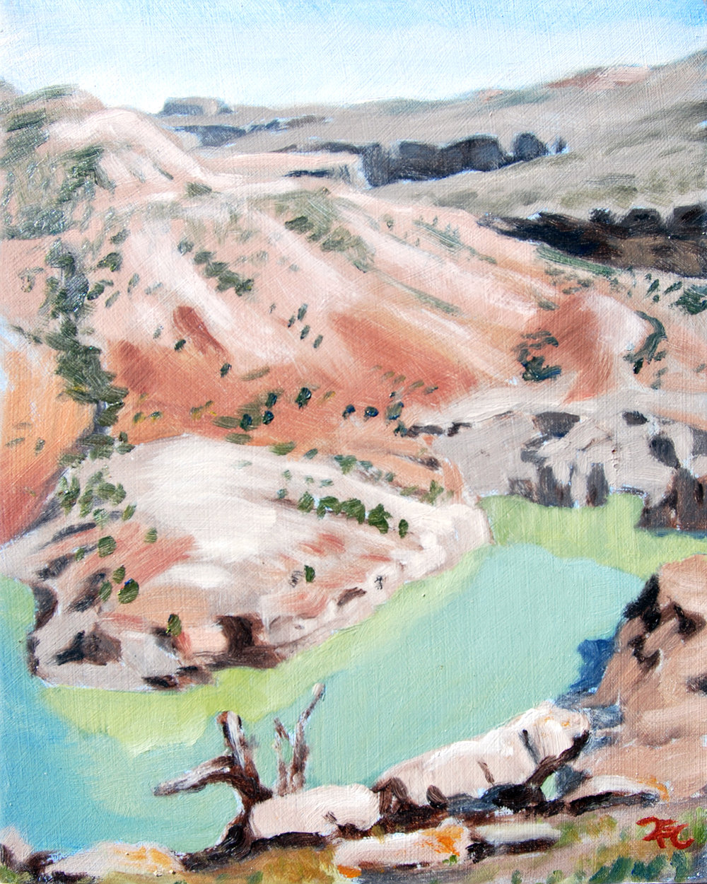 Crooked Creek , 10 x 8 in.  Oil on panel. Available for purchase. (2016)