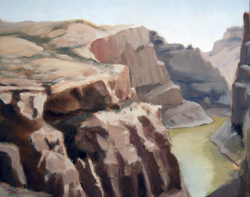 Devil's Canyon Anticline , 8 x 10 in.  Oil on panel. Private collection. (2016)