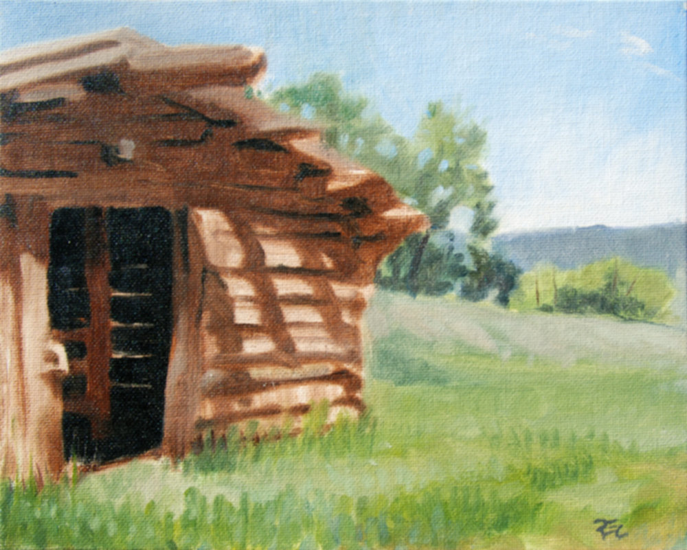 Ewing Snell Ranch , 8 x 10 in.  Oil on canvas. Available for purchase. (2016)