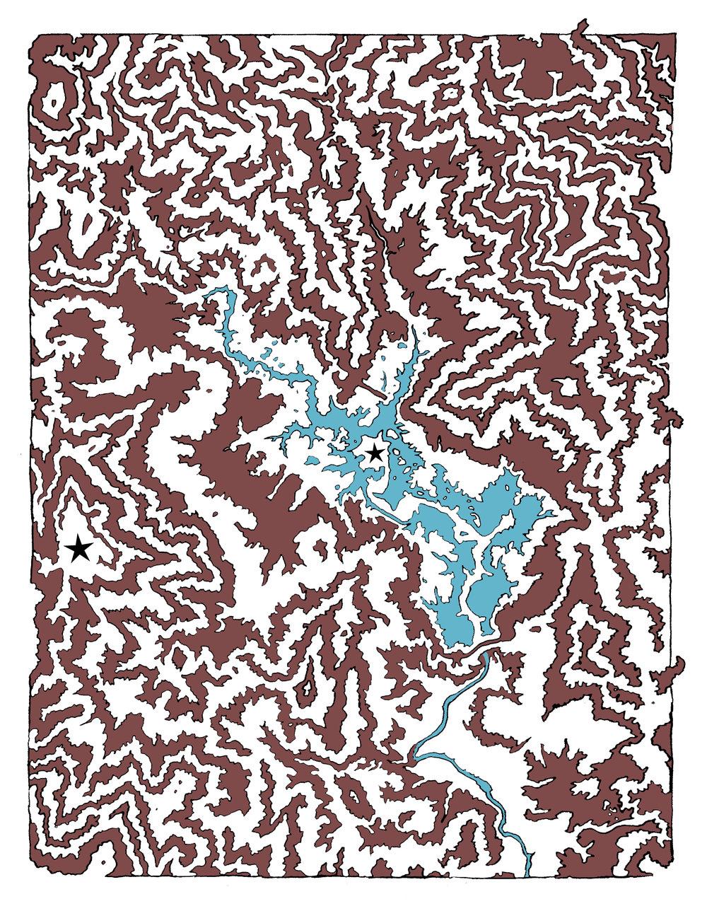 Whiskeytown Maze,  dimensions variable.  Digital image. (2016)