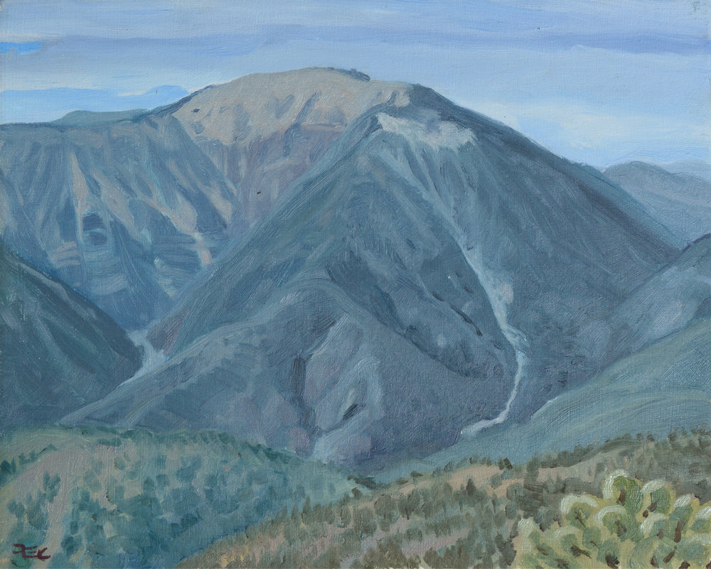 Mount Baden-Powell,  8 x 10 in.  Oil on panel. Available for purchase. (2017)