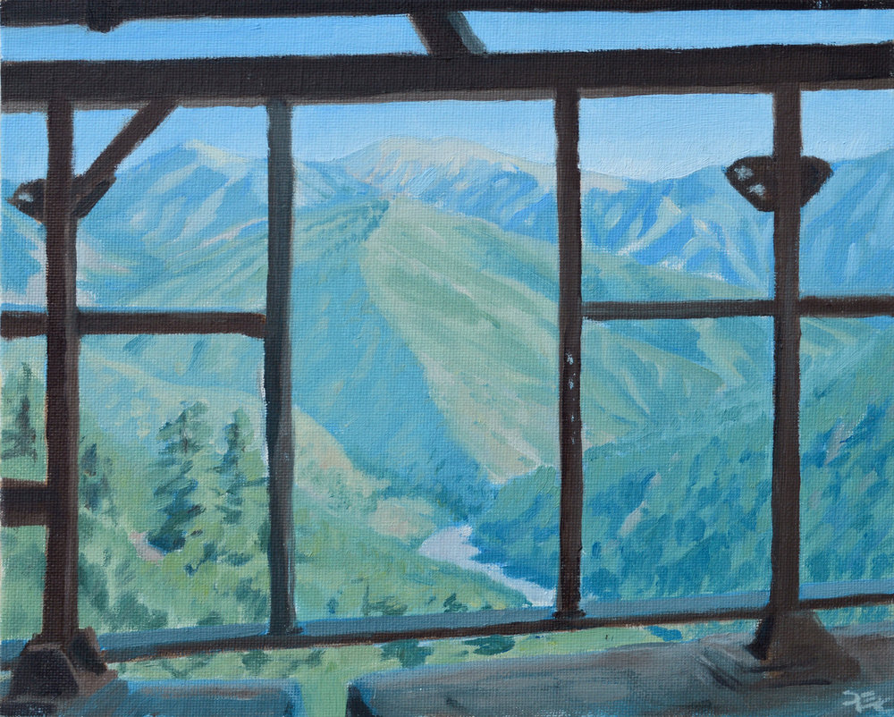 Abandoned Mill, Bighorn Mine , 8 x 10 in.  Oil on canvas. Available for purchase. (2017)