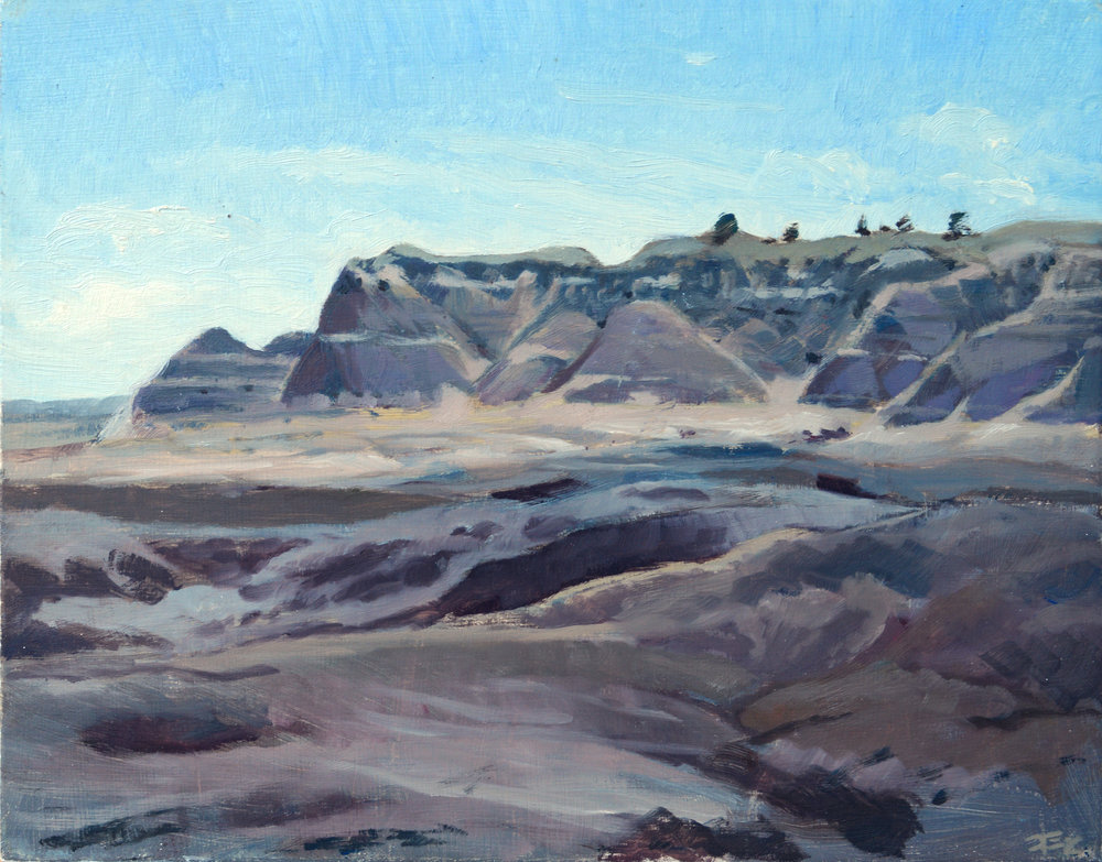Blue Mesa,  8 x 10 in.  Oil on panel. Private collection. (2017)