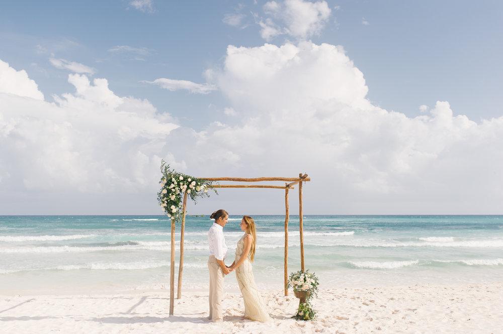 Destination Wedding Beach Ceremony - www.theeventeur.com