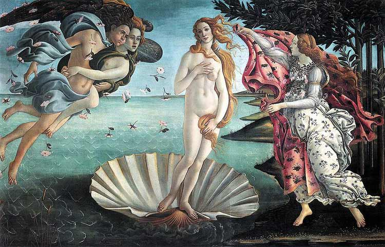 Birth of Venus, 1486 Sandro Botticelli