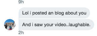 [Actual DM from Her Twitter To Me]