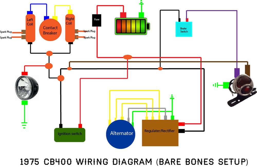 random moto work village honda cb400 wiring diagram