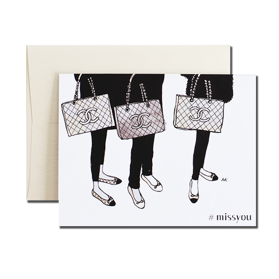 Chanel Bag Miss You A2 Folded Card Quartz Metallic Envelope
