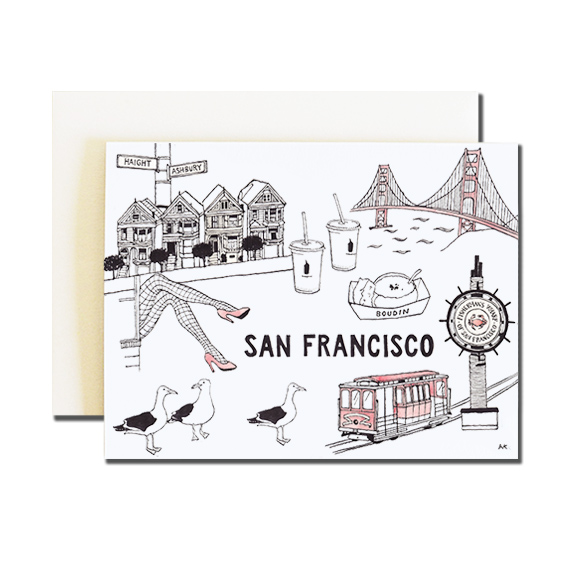 San Francisco A2 Size Folded Card Quartz Metallic Envelope