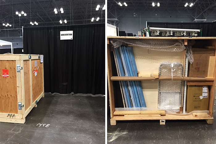 trade show booth crate