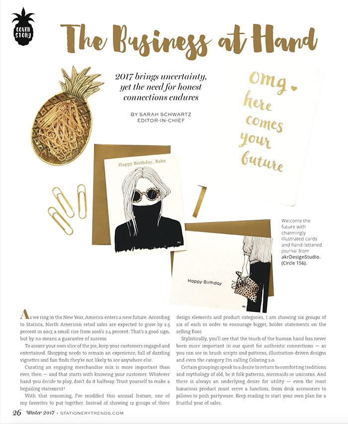 akr Design Studio in Stationery Trends Magazine