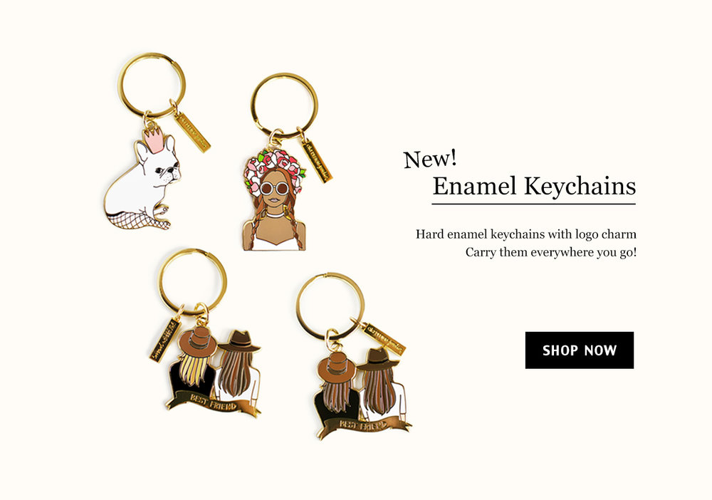 enamel keychain, best friend keychain, french bulldog keychain, key fob