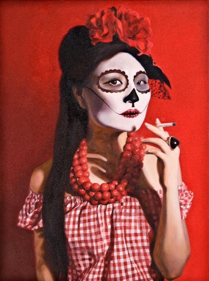 Ruby Chew, Gloria, Oil on Canvas, 65 x 45 cm, 2010