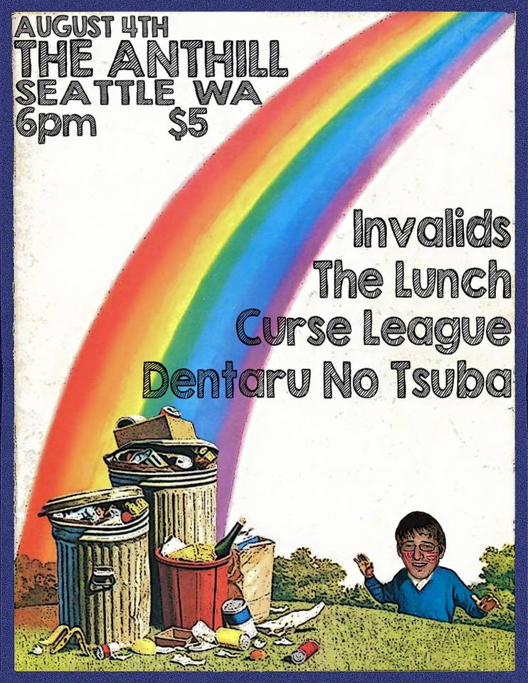 Math rock bands, Curse League, The Lunch, and Invalids  - at The Anthill. The Anthill is a DIY venue in Seattle created by musicians for musicians. Featuring everything from Hip Hop to Black Metal.