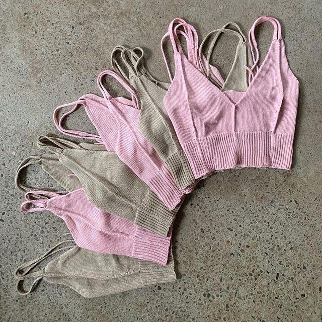 🌞 #knitwear #loungewear #bratop #linen #handmade #slowfashion