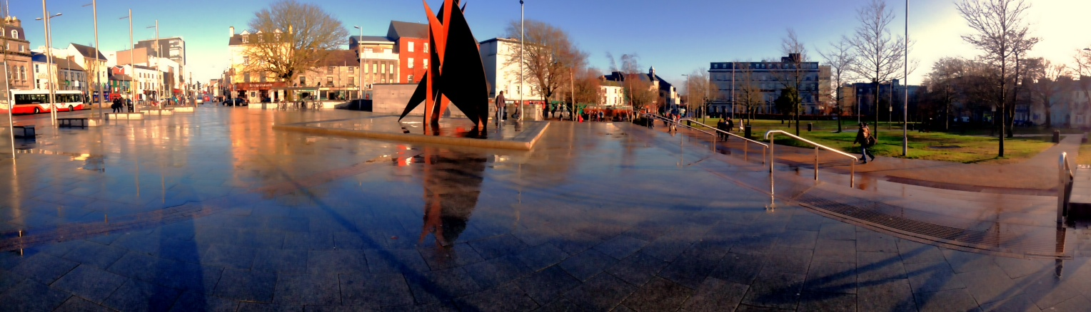 Eyre Square-This is about a three minute walk from my apartment. It's the city centre (for the most part).