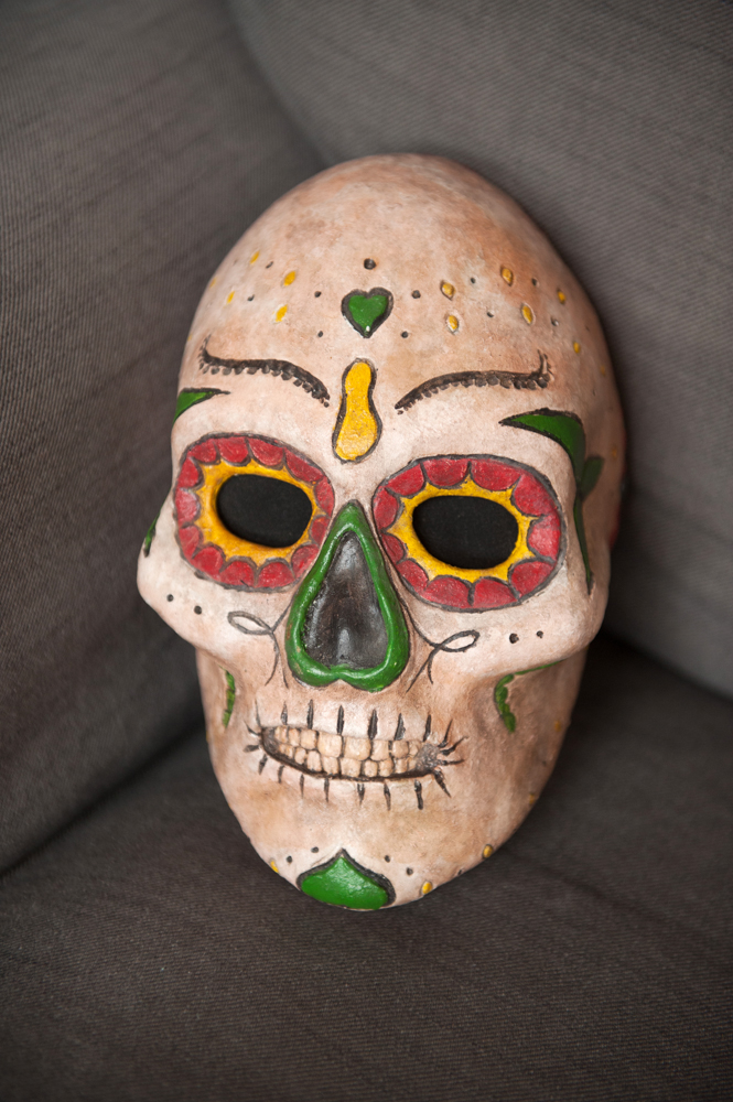 Luc Favre, Day of the Dead  papier mâché mask.