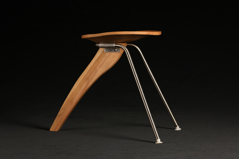 Luc Favre, reproduction of Isamu Noguchi's 'Rudder Stool.' Photo by Ashleigh Kennedy.