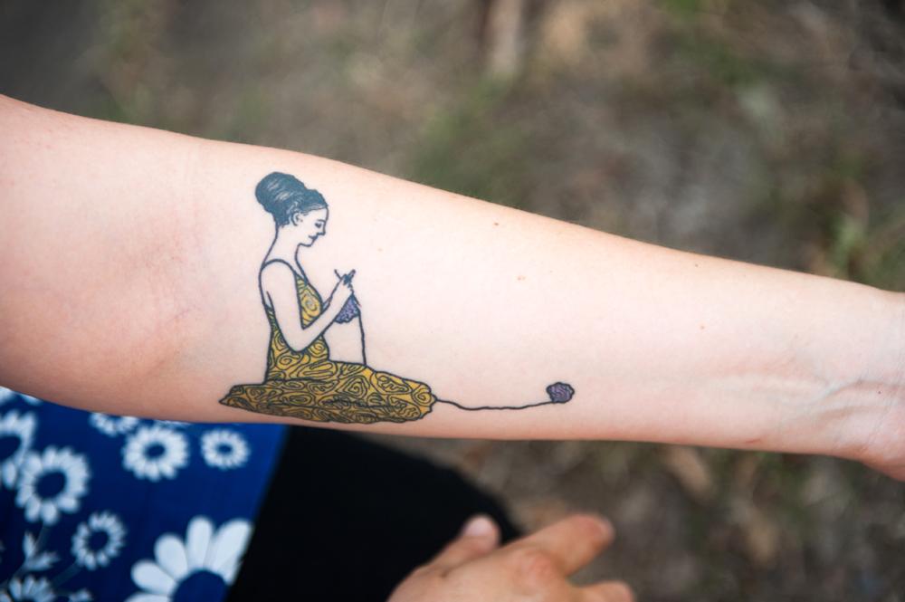 Sayraphim's tattoo, artwork by Suki, tattooing by Tan Van Den Broek.