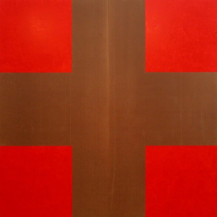 John Nixon, 'Red and Brown Cross.'