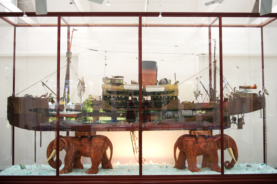 Eddy Parritt, 'Large Ship on 2 Elephants.'