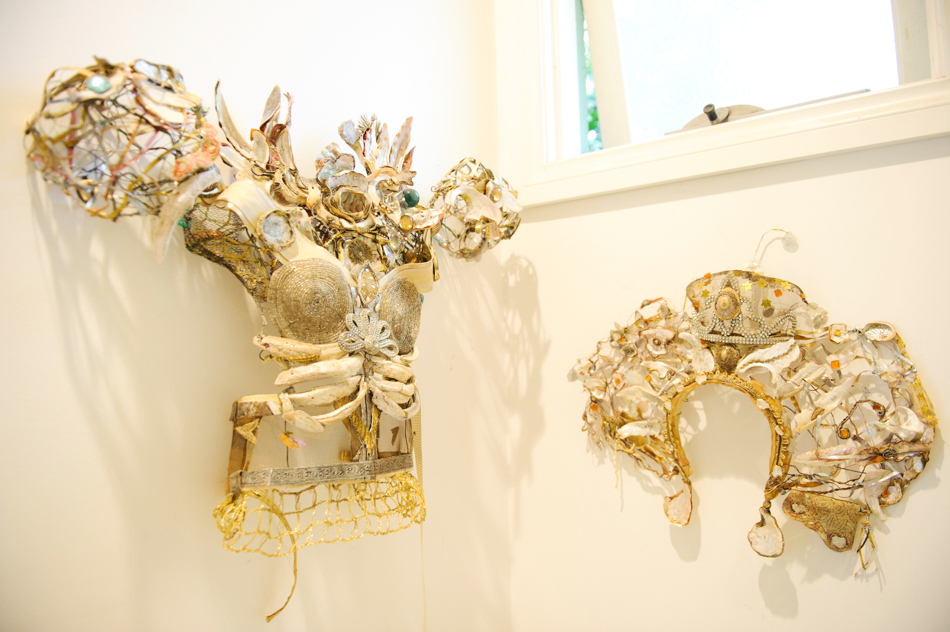 Some of Kate's work in her studio.