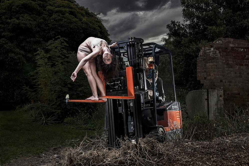 Promotional image for KAGE's 'Forklift.' Photo by Justin Berhaut.