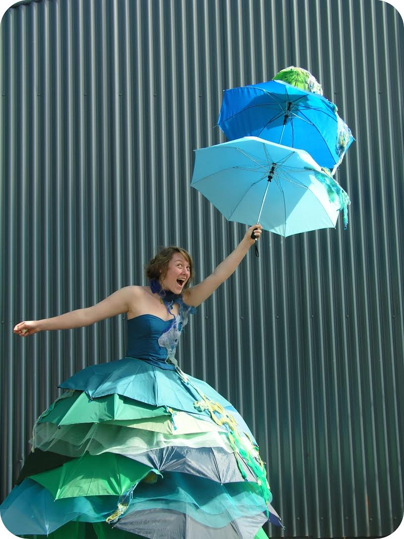 Paige's umbrella dress in full flight.