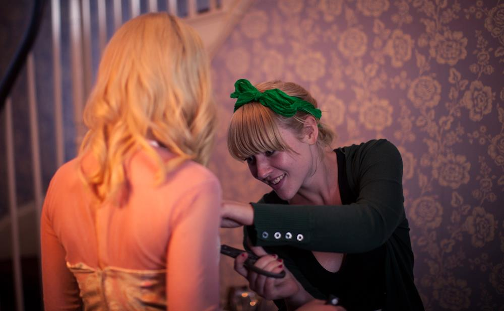 Paige on-set with Kate Miller-Heidke. Photo by Melissa Koh,