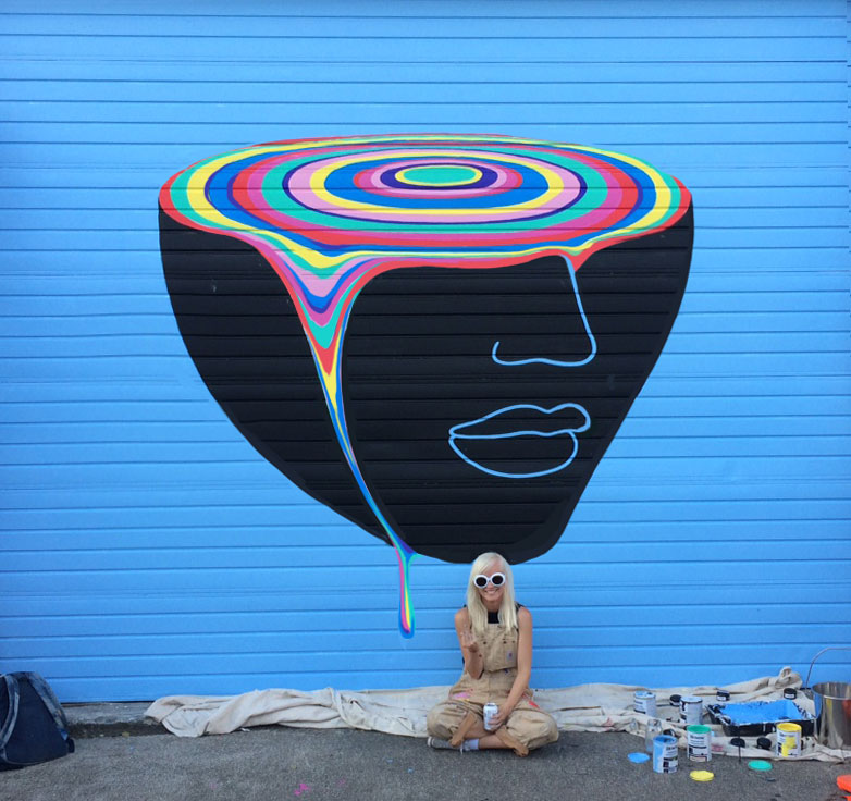 Gina kiel for Daft punk mural