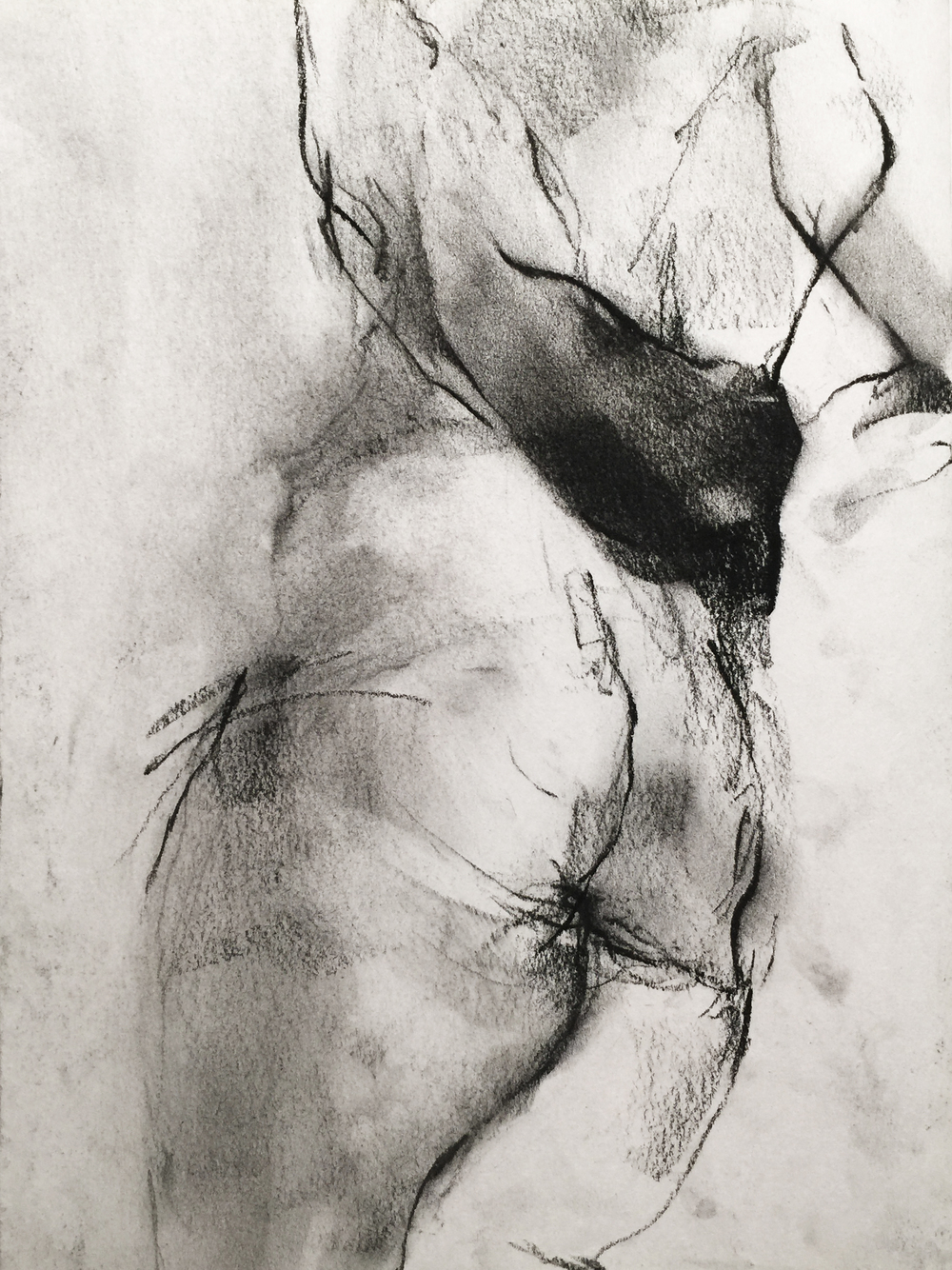 Charcoal on newsprint  2015