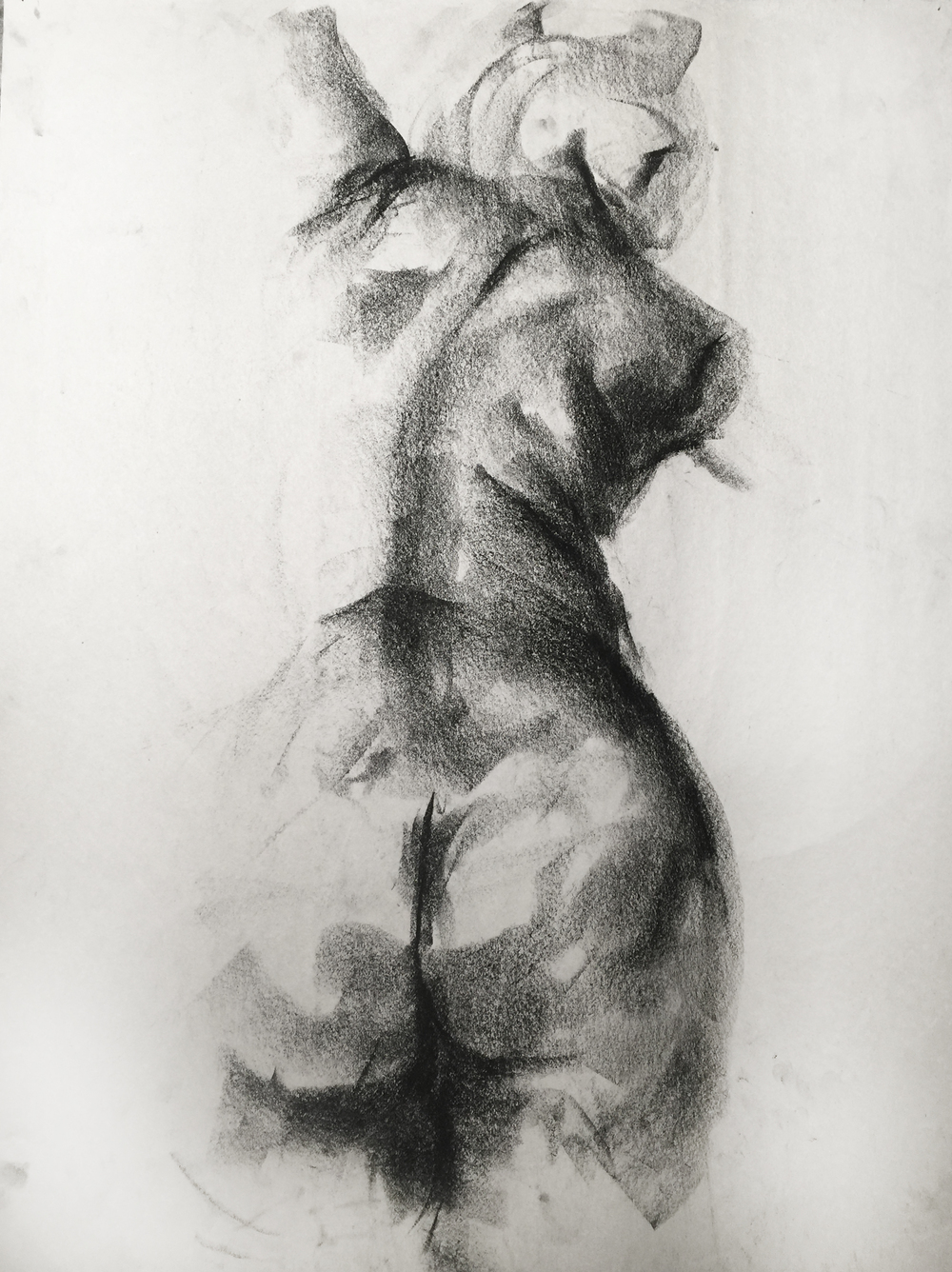 Charcoal on newsprint  2014