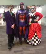 Joker and Harley Quinn stop for a hallway shot at Origins 2014