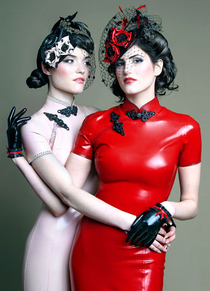 Models: Lilah (right) and Joy (left). Designer: Atsuko Kudo. Hair and makeup: Julia Newbold.