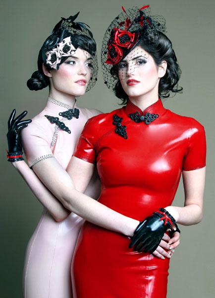 Models: Lilah (right) and Joy (left). Designer: Atsuko Kudo. Hair and makeup: Julia Newbold.