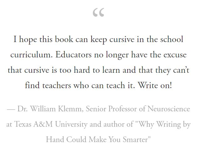 "Dr. William Klemm, Senior Professor of Neuroscience at Texas A&M University and author of ""Why Writing by Hand Could Make You Smarter"""
