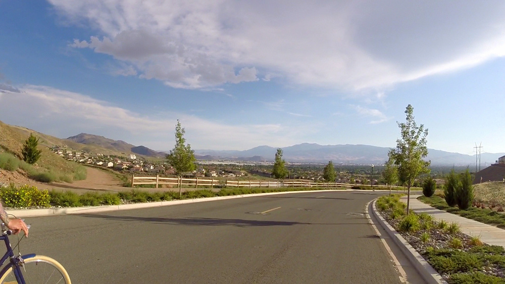 Downhill we go towards the Reno valley below.