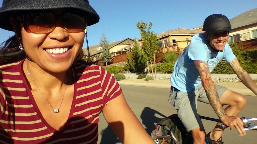 Fun time on the bicycle and quality time together!