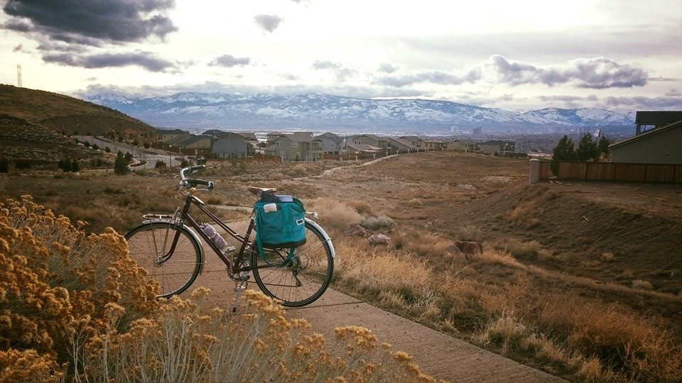 One of my last bike commutes from the area where we use to live to downtown Reno, NV.