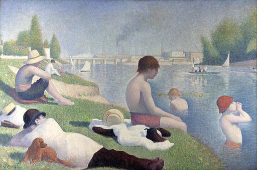 "Georges Seurat, ""Bathers in Asnières"""