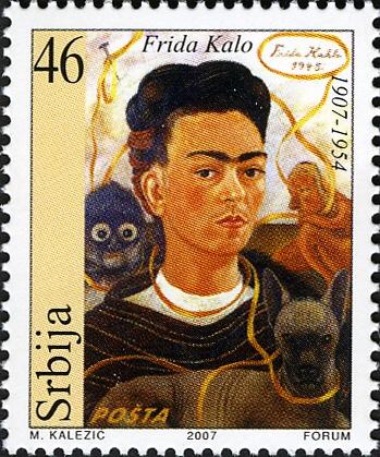 Frida Kahlo, Serbian stamp (2007)