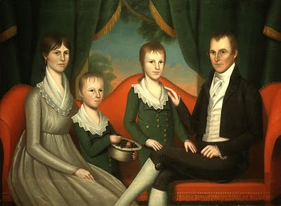 1804 Ralph Eleaser Whiteside Earl Family Portrait