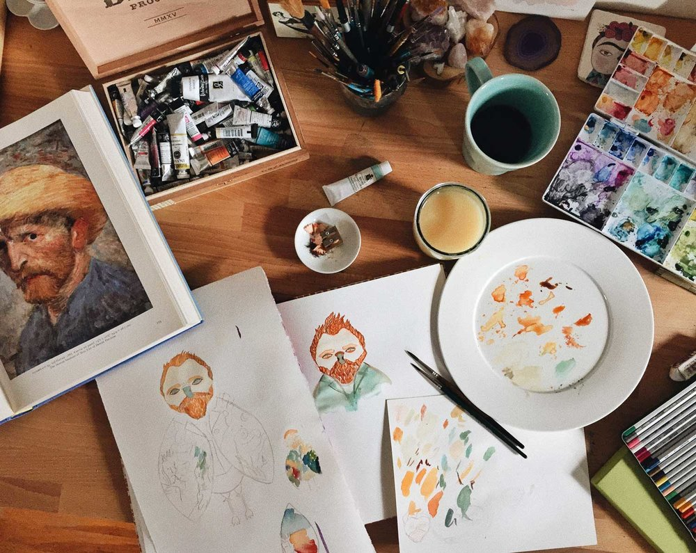 The process of creating Vincent Owl.