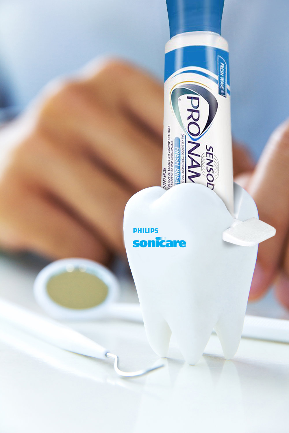 Partnership with Sensodyne ProNamel Toothpaste and toothpaste squeezer - ProNamel toothpaste is gentle and effective at the same time, making it a great option for a Sonicare partnership and dental obsessed people.