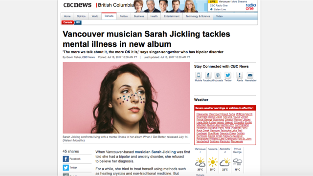 cbc Sarah Jickling