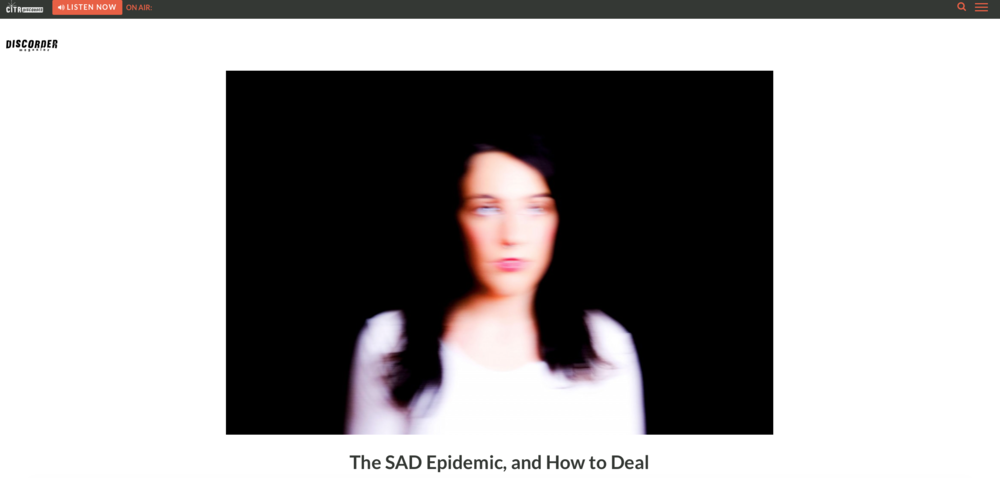 Click here to read the article and find resources to deal with Seasonal Affective Disorder.