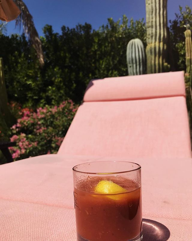 Enjoying the sunshine and music this weekend! #coachella #palmsprings #bloodymary #malibumary #poppourparty