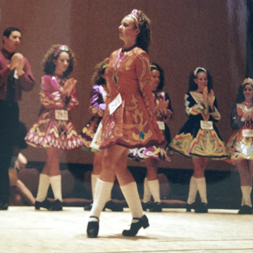 A picture from a feis (competition) that I did in high school.