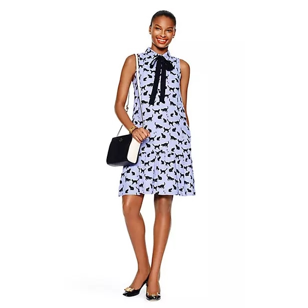 cats and cream tiered dress by Kate Spade - $207.00